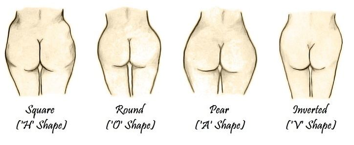 different-types-of-butt-shapes