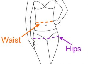 How do you measure your waist or hips for your underwear sizing?
