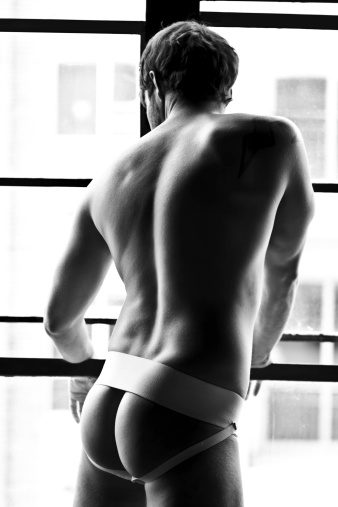 looking good while wearing a jockstrap